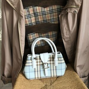 Authentic Burberry Purse Baby Blue